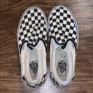 Women's Vans checkered slip on's.  Old school
